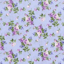 3266-001 Afternoon In The Attic - Heirloom Floral - Lavender Flannel Fabric