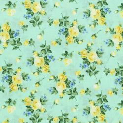 3266-003 Afternoon In The Attic - Heirloom Floral - Daffodil Flannel Fabric