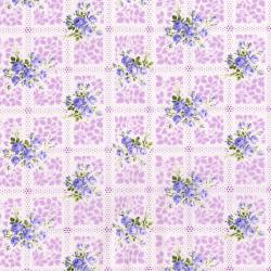 3267-001 Afternoon In The Attic - Memento - Lavender Flannel Fabric