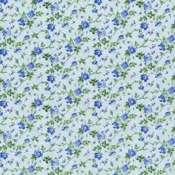 3268-003 Afternoon In The Attic - Dainty Blooms - Bluebell Flannel Fabric