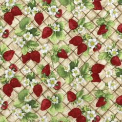 3557-001 Ambrosia Farm - Berry Picking - Tan Fabric