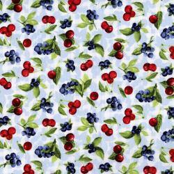 3558-001 Ambrosia Farm - Cherry Berry - Blue Sky Fabric