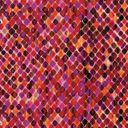 3394-002 Arabesque - Mosaic - Pomegranate Digiprint Fabric