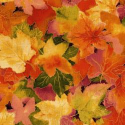 3117-001 Autumn Air - Forest Floor - Mulberry Metallic Fabric