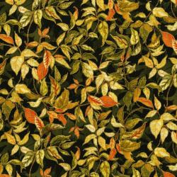 3118-003 Autumn Air - Rustling Leaves - Oak Metallic Fabric