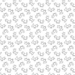 2623-003 Bare Essentials Deluxe - Puppy Love - White/Black Fabric