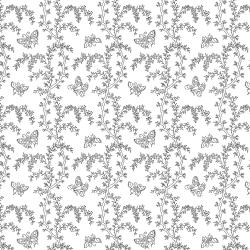2625-003 Bare Essentials Deluxe - Garden Splendor - White/Black Fabric