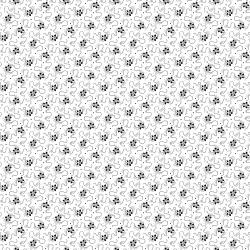 RJ510-BW2 Bare Essentials Deluxe - Flower Trail - Black & White Fabric