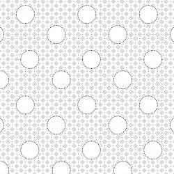 RJ511-BW2 Bare Essentials Deluxe - Circles - Black & White Fabric