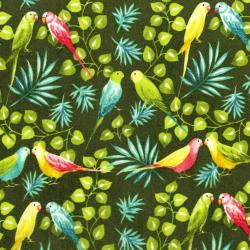 3409-001 Beach Bash - Lovebirds - Fern Fabric