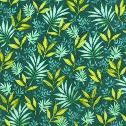 3410-001 Beach Bash - Fronds Forever - Lagoon Fabric
