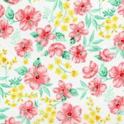 3411-003 Beach Bash - Hibiscus Hula - Guava Fabric