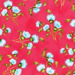 3412-002 Beach Bash - Mini Mums - Strawberry Fabric