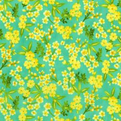 3413-001 Beach Bash - Flower Shower - Pineapple Fabric
