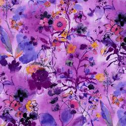 RJ1202-OR1 Bloom Bloom Butterfly - Wild Meadow - Orchid Fabric