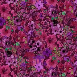 RJ1203-MU1 Bloom Bloom Butterfly - Moonlit Blooms - Mulberry Fabric