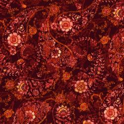 3080-002 Bordeaux Rose - Echarpe - Rouge Fabric