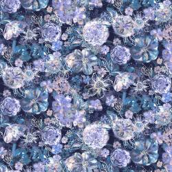 RJ2201-NA1D Bouquet - Floral Eclipse - Navy Digiprint Fabric