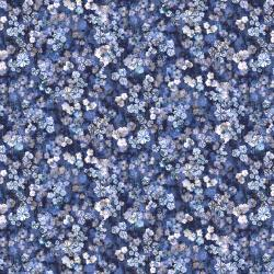 RJ2204-IN1D Bouquet - Bloom Burst - Indigo Digiprint Fabric