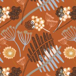 RJ3100-AU3 Chatterbox - Heads Up Seven Up - Auburn Fabric