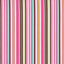 8173-006 Dots & Stripes - Stripe - Brown/Dusty Rose Fabric