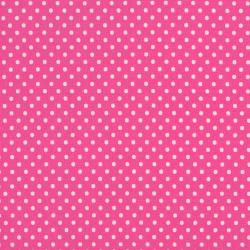8174-021 Dots & Stripes - Small Dot - Pink/White Fabric