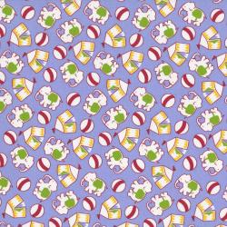 2508-002 Everything But The Kitchen Sink XI - Novelty Circus - Lavender Fabric