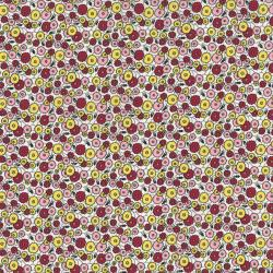 2513-002 Everything But The Kitchen Sink XI - Med Flowers - Yellow/Red Fabric