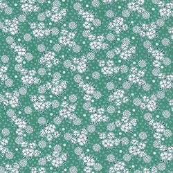 2517-003 Everything But The Kitchen Sink XI - Medium Flowers - Jade Fabric