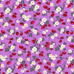 2965-002 Everything But The Kitchen Sink XII - Berries And Blooms - Lavender Fabric