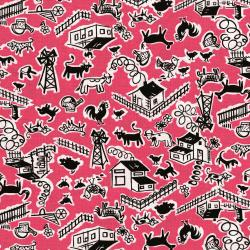 2966-001 Everything But The Kitchen Sink XII - Barn Yard - Taffy Fabric