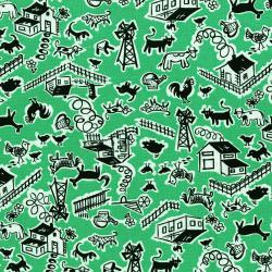 2966-003 Everything But The Kitchen Sink XII - Barn Yard - Field Fabric