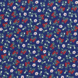 3304-003 Everything But The Kitchen Sink XIII - Barbara's Berries - Blueberry Fabric
