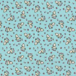 3307-001 Everything But The Kitchen Sink XIII - Frolicking Fawns - Aqua Fabric