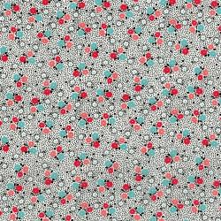 3308-002 Everything But The Kitchen Sink XIII - Posie Dot - Blackberry Fabric