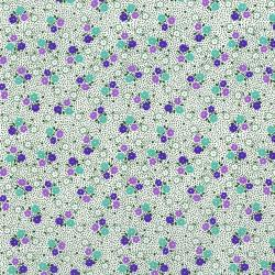 3308-003 Everything But The Kitchen Sink XIII - Posie Dot - Grape Fabric
