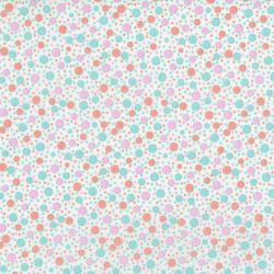 3310-002 Everything But The Kitchen Sink XIII - Circus Dots - Orange Cream Fabric