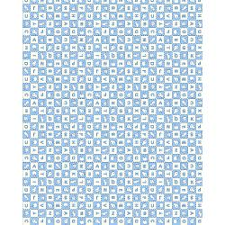 3594-003 Everything But The Kitchen Sink XIV - Alphabet Soup - Sky Blue Fabric