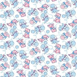 RJ2501-BU2 Everything But The Kitchen Sink XV - Furry Critters - Bubblegum Fabric