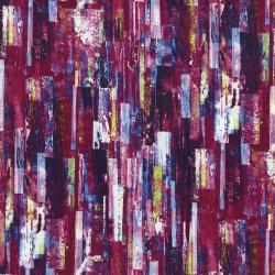 3546-002 Fleur Couture - Color Cascade - Lipstick Digiprint Fabric