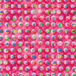 RJ1501-RU2D Geometry - Circles - Ruby Digiprint Fabric