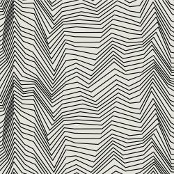 RJ1422-BI2 Gray Matter - Zig Zag - Black on Ivory Fabric