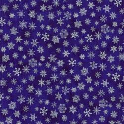 0780-003 Holiday Accents Classics - Snow Flake - Indigo Fabric
