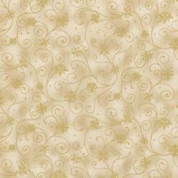 0782-001 Holiday Accents Classics - Pointsetta - Cream Fabric