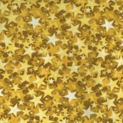 2712-003 Holiday Accents Classics - Starburst - Gold Metallic Fabric