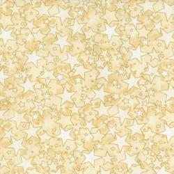2712-004 Holiday Accents Classics - Starburst - Cream Metallic Fabric