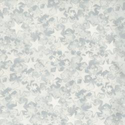 2712-005 Holiday Accents Classics - Starburst - White Metallic Fabric