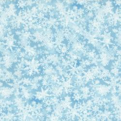 2713-004 Holiday Accents Classics - Falling Snow - Sky Blue Fabric