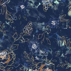 RJ3301-TO1 I Must Have Flowers - Where Flowers Bloom - Topaz Fabric