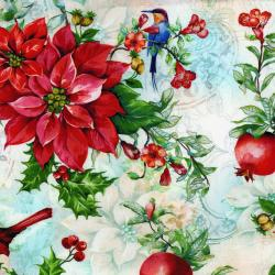 3168-001 Illuminating the Season - Winter's Flight - Vanilla Digiprint Fabric